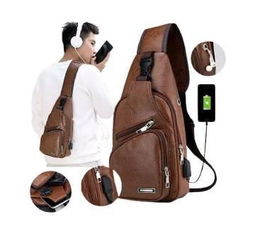 Stylish side bag new model Pu leather