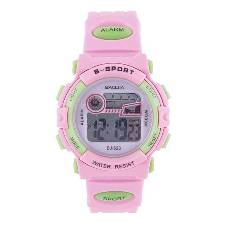 Rubber Digital Watch For Kids - Pink