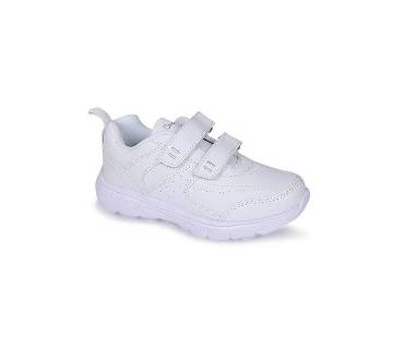 Artificial Leather Pre-Teen School Shoe for Baby