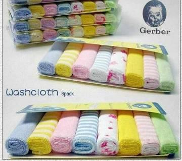 Gerber Baby WASHCLOTH- 8 pieces