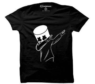 Marshmallow Dab Gents half sleeve t-shirt