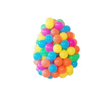 Plastic Water Pull Ball - 50pcs - Multicolour
