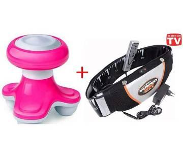 VIBRO-SHAPE slimming belt+ electric massager combo
