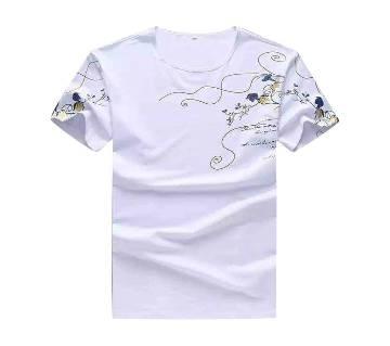 Mens Half Sleeve Cotton T-Shirt