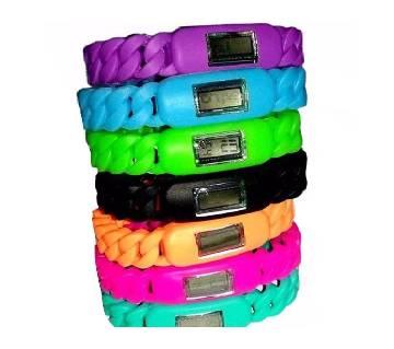 Ladies Twist Silicone Wristband Watch