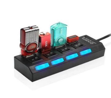 4-পোর্ট USB হাব উইথ ON/OFF সুইচ
