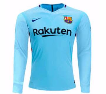 2017-18 Barcelona away Full Sleeve Club Jersey
