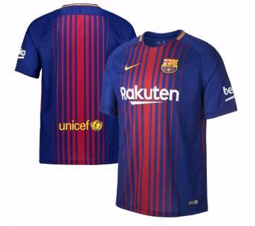2017-18 Barcelona Home Half Sleeve Club Jersey