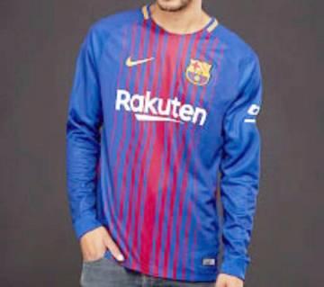 2017-18 Barcelona Home Club Full Sleeve Club Jersey