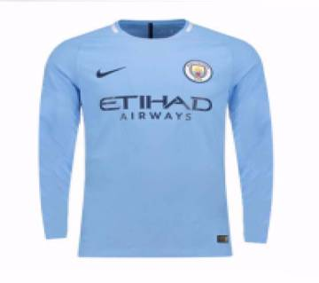 2017-18 Manchester City Home  Full Sleeve Club Jersey