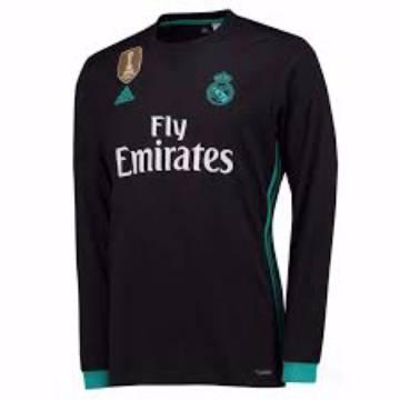 2017-18 Real Madrid Away ফুল স্লিভ ক্লাব জার্সি