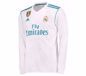 2017-18 Real Madrid Home Full Sleeve Club Jersey