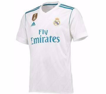 2017-18 Real Madrid Home Half Sleeve Club Jersey