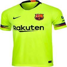 2018-19 Barcelona Away Half Sleeve Jersey (Copy)