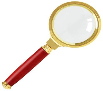 Handheld Magnifying Glass Copper 70mm