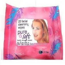 Pure Soft facial cleansing wipes - 25 Pcs