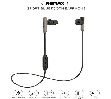 Remax RB-S9 Sport Wireless Bluetooth Earphone Stereo Headset In-Ear HD Stereo Bass Earbuds with Mic