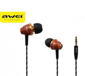 Awei ESQ5 Wooden In-ear earphone