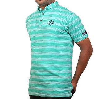 GENTS SHORT SLEEVE STRIPED POLO SHIRT