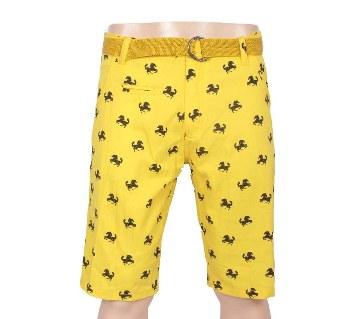 printed cotton two quarter unisex pants