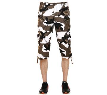 Gents Cemo Print Cargo Three Quarter Pant