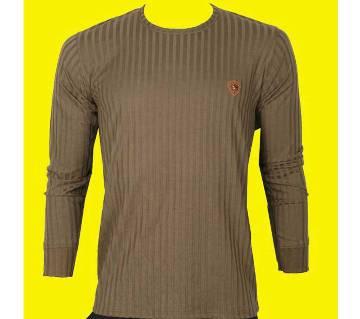 Mens solid full sleeve t-shirt