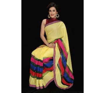 Colorful hand loom cotton sharee