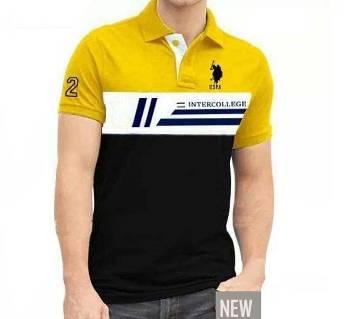 Gents Half Sleeve Multicolor Polo Shirt
