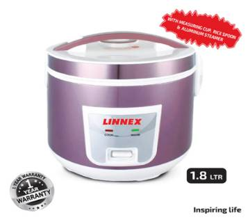 Linnex Rice Cooker (Close Type) 1.8ltr Pink