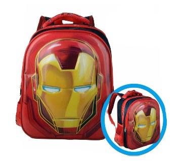 3D iron man design school bag