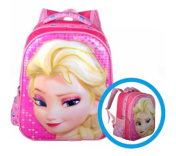 3D frozen Elsa design school bag
