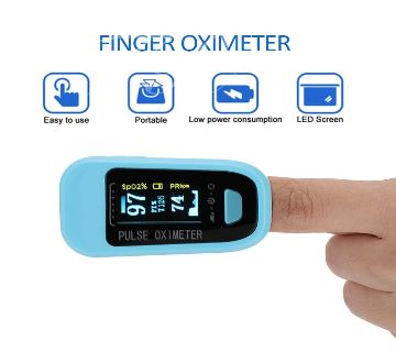 Digital Fingertip Pulse Oximeter OLED Display Model F-169