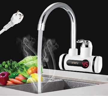 Instant Thankless Digital Electric Hot Water Tap for any Basin Mount with led Display, Instant Thankless Digital Electric Hot
