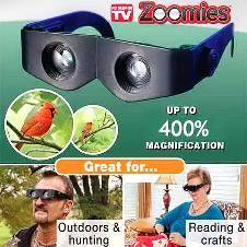 Zoomies Hands-free Binoculars (400% Zoom)