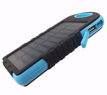 5000mAh solar power bank+ LED light