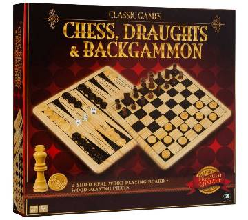 Chess, Draughts & Backgammon Set 3in1 (small)