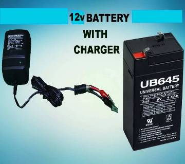 12V 7.5 AH Rechargeable Battery with charger
