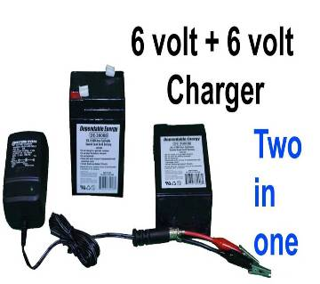 6V 4.5Ah Rechargeable Battery with Charger