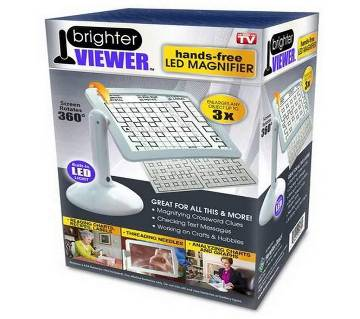 Brighter Viewer hands-free LED magnifier