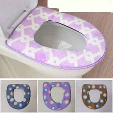 Bathroom Toilet Seat Warmer Cover - 1 pcs