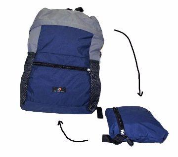 Folding Travel Backpack (Navy blue)