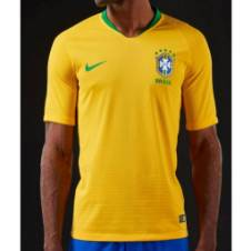 Brazil Home Jersey Half Sleeve-Copy
