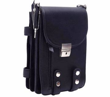 Gents Leather Side Bag - Small