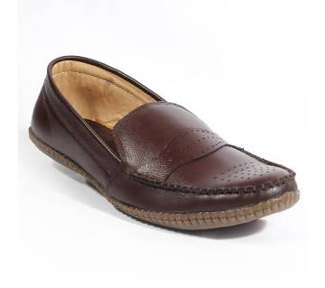A028Ch Lather loafer for men