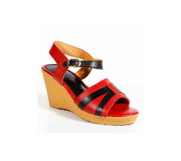 Ladies Leather Casual High Heel Sandals