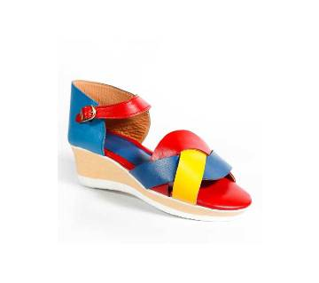 AA063 Red+Yellow+Blue Ladies Sandal
