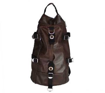 Leather Laptop Cum Travel backpack