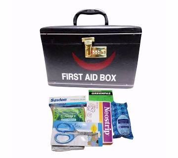 First Aid Box with First Aid items