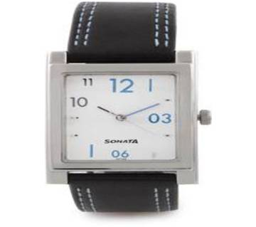 Sonata Analog White Dial Watch