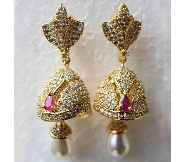 Diamond Cut Jhumka Ear Ring-319